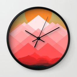 Mountains VVIX Wall Clock