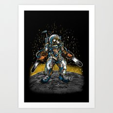 Texas Chainsaw Astronaut Art Print