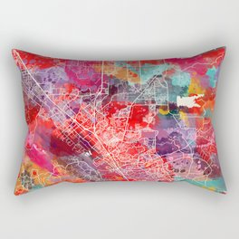 Temecula map California painting 2 Rectangular Pillow