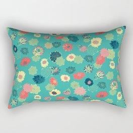 Succulent Blooms Rectangular Pillow