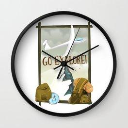 Go Explore! Wall Clock