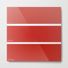 Fiery Red Metal Print