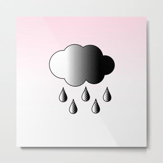 Black Cloud Metal Print