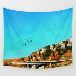 Linn Cove Viaduct Wall Tapestry