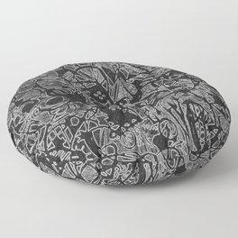 White/Black #3 Floor Pillow