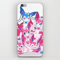 sylveon iPhone & iPod Skins featuring Sylveon Pile by Black Howl
