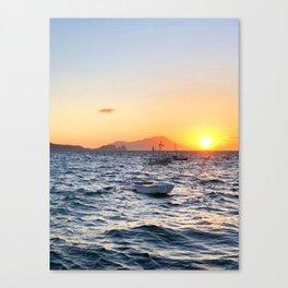 255. Milos Sunset, Greece Canvas Print