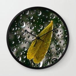 Rain on Window Wall Clock