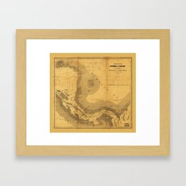 Isthmus of Chiriqui Map (1860) Framed Art Print