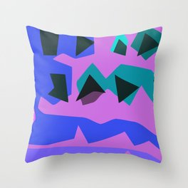 Purple Purple Throw Pillow