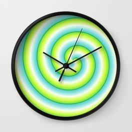 Gradient Lime Light Swirl Wall Clock