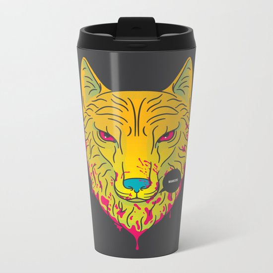 The Unbridled Anger of a Decapitated Direwolf Metal Travel Mug