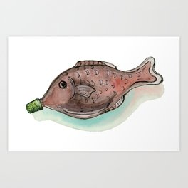Little Soy Fish Art Print