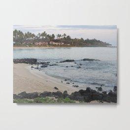 Hawaii Coast Line Metal Print