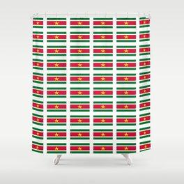 Flag of suriname -suriname,surinam,surinamese,Surinaamse,surinamés, Paramaribo. Shower Curtain