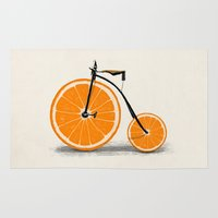 orange Area & Throw Rugs featuring Vitamin by Florent Bodart / Speakerine