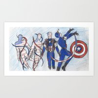 Sailor Cap Art Print