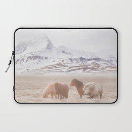 WILD AND FREE 3 - HORSES OF ICELAND Laptop Sleeve