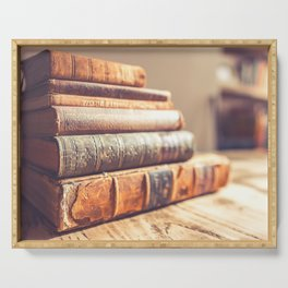 Bookish - Library Bookworm Books Serving Tray