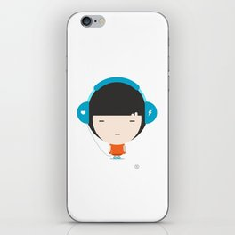 Helmet Girl: Jam iPhone Skin