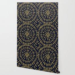 Mandala Flower #1 #gold #drawing #decor #art #society6 Wallpaper