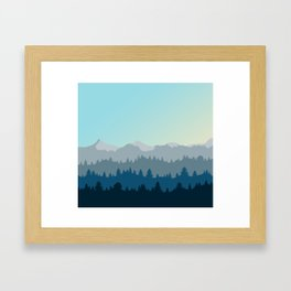 Face This Mountain (No Text) Framed Art Print