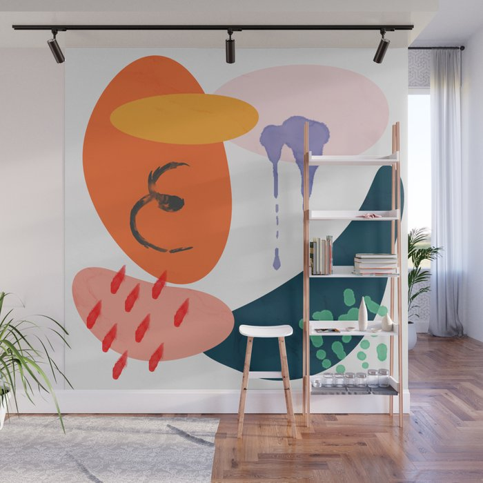 abstract dripping Wall Mural