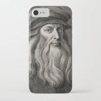 da vinci iPhone & iPod Cases featuring Leonardo da Vinci by Palazzo Art Gallery