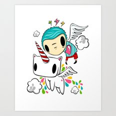 Polypop The Unicorn Art Print