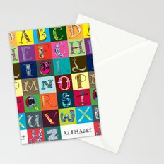 Hand Drawn Alphabet Stationery Cards
