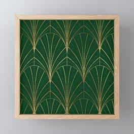 Art Deco Waterfalls // Emerald Green Framed Mini Art Print