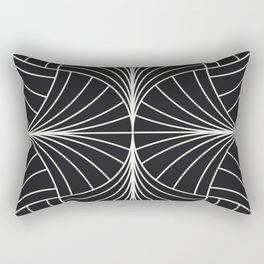 Diamond Series Inter Wave White on Charcoal Rectangular Pillow