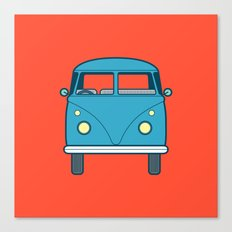 #53 Volkswagen Type 2 Splitscreen Bus Canvas Print
