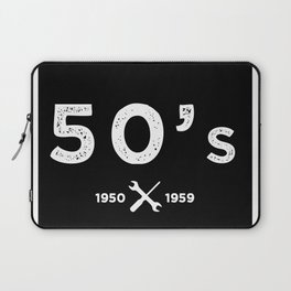 Born in the 50s. Certified Awesome Laptop Sleeve
