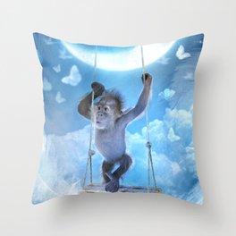 Une âme d'enfant Throw Pillow