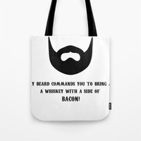 whiskey Tote Bags featuring Whiskey by AlternateDecision