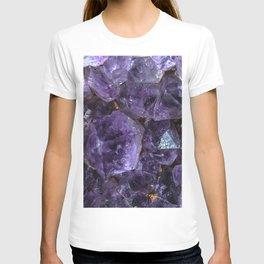 Amethyst crystals 4882 T-shirt