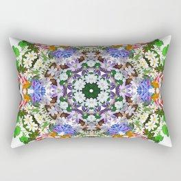 Spring wildflower mandala 2 Rectangular Pillow