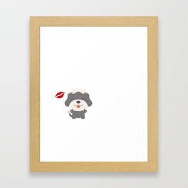I Kissed A Havanese And I Liked It Cute Dog Kiss Gift Idea Framed Art Print