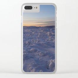 Minimal Winter Landscape in Wisconsin Clear iPhone Case