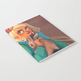 Rabbit girl illustration fantastic Notebook