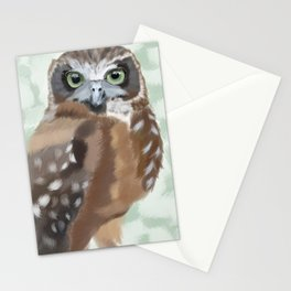 Green Eyed Owl Stationery Cards