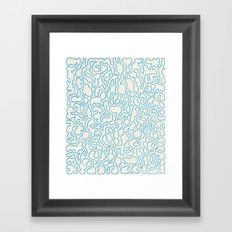 Puzzle Drawing #1 Framed Art Print