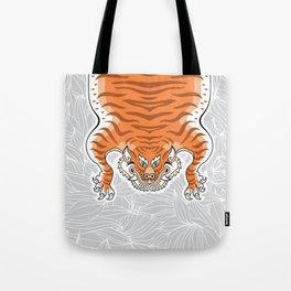 TIBETAN TIGER - GOLDEN (white) Tote Bag