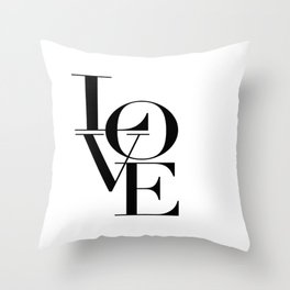LOVE IS SWEET, Love Sign,Love Art,Wedding Decor,Anniversary Quote,Love Symbol,Love you more Throw Pillow