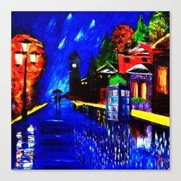 Tardis Phone Both Starry Night Canvas Print