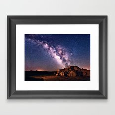 Bisti Badlands Night Sky Framed Art Print