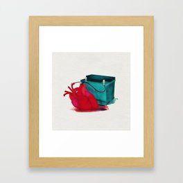 Jump start my heart Framed Art Print