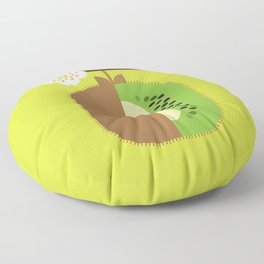 Fruit: Kiwifruit Floor Pillow