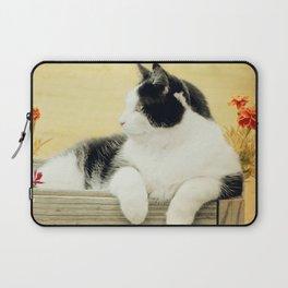 Suzy Copper Sun - Tuxedo Cat Laptop Sleeve